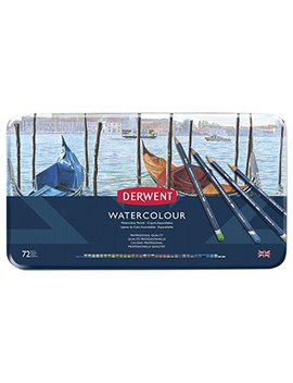 Derwent Colored Pencils, Watercolor, Water Color Pencils, Drawing, Art, Metal Tin, 72 Count (32889) by Derwent