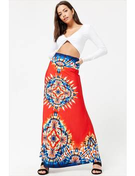 Medallion Print Maxi Skirt by Forever 21