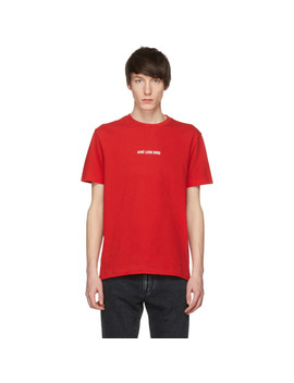 Red Logo T Shirt by AimÉ Leon Dore