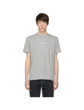 Grey Logo T Shirt by AimÉ Leon Dore