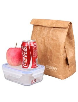 Sanne Lunch Bag Box Cooler Bag Insulated Retro Style Holiday Gift Set For Girls Kids Women Adults Boys Breastmilk Reusble Paper Leakproof Environmental Handle Bag Go Work Picnic Shool(Brown) by Sanne