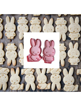 Set Of 2 Miffy Cookie Cutters Plunger Biscuit Mold Fondant Cake Topper Cookie Mold Kids Birthday Party by Etsy