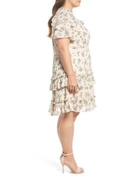 Print Ruffle Dress by Glamorous