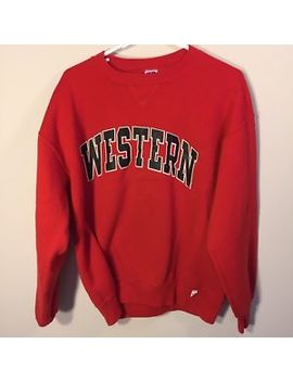 Vtg 90s Russell Athletic Western Kentucky Hilltoppers Crewneck Sweatshirt Wku Xl by Russell Athletic