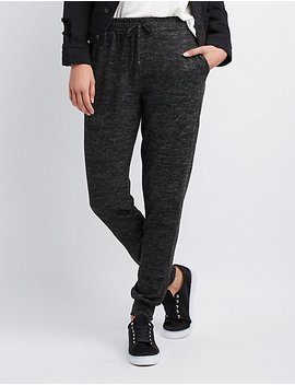French Terry Knit Jogger Pants by Charlotte Russe
