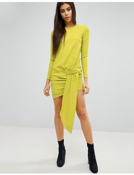 Missguided Twist Front Mini Dress by Missguided