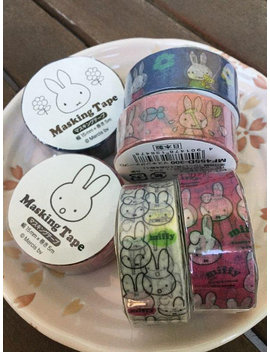 Miffy Tape   Pick One   Japanese Masking Tape   15mm X 5 M by Etsy