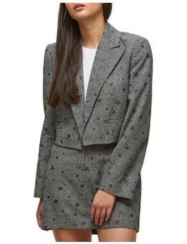 Star Check Cropped Blazer by Miss Selfridge