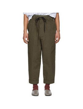 Brown Pull On Rib Relaxed Trousers by 3.1 Phillip Lim