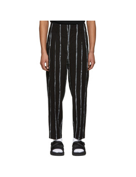 Black Painted Stripes Trousers by 3.1 Phillip Lim