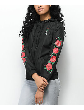 Empyre Keana Rose Black Windbreaker Jacket by Empyre