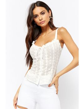 Eyelet Ruffle Top by Forever 21