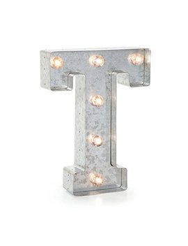 """Darice 5915 720  Silver Metal Marquee Letter 9.875"""" T by Darice"""