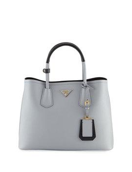 Saffiano Cuir Small Double Bag by Prada