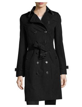 Sandringham Long Slim Trenchcoat, Black by Burberry