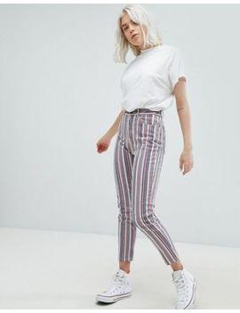 Pull&Bear Stripe Straight Leg Jeans by Pull&Bear