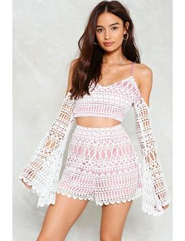 Lover Undercover Crochet Top And Shorts Set by Nasty Gal