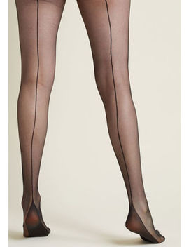 Pinup To You Seamed Tights Pinup To You Seamed Tights by Modcloth
