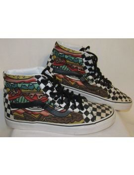 Vans Sk8 Hi Late Night Burger Check Skate Shoes Sneakers Size M 9.5 / W 11 by Vans