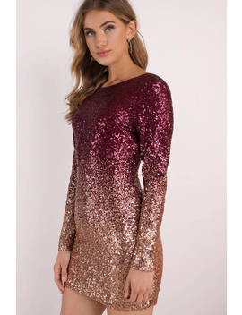 Jayden Multi Long Sleeve Bodycon Dress by Tobi