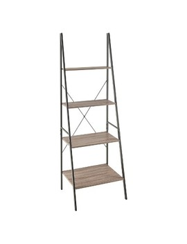 "70 ""Ladder Bookshelf Mixed Material   70""   Gray   Closet Maid by Closet Maid"