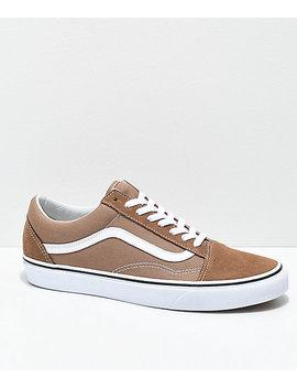 Vans Old Skool Tiger Eye Tan &Amp; White Skate Shoes by Vans