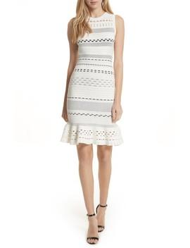 Cutout Lace Knit Dress by Milly