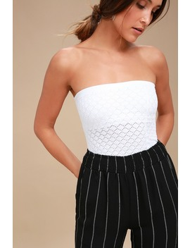 Honey White Textured Tube Top by Free People