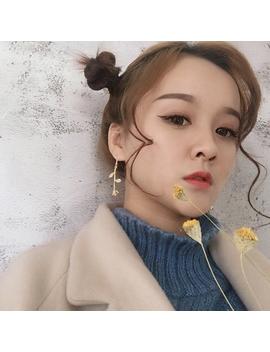 2017 Female Fashion Earrings Metal Contracted Earrings Korean Woman Rose Flowers Romantic Delicate Earrings Wholesale by Imanuel Store