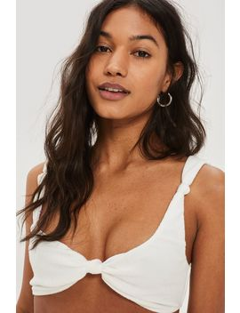 **Knot Front Bikini Top by Topshop
