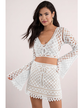 Good To You White Lace Crop Top by Tobi
