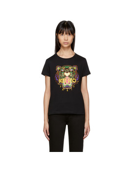 Black Limited Edition Holiday Tiger T Shirt by Kenzo