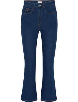 Cropped High Rise Flared Jeans by Attico