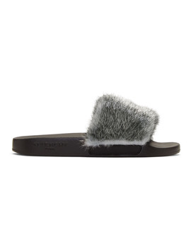 Silver Mink Slides by Givenchy