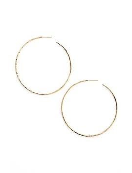 Hammered Hoop Earrings by Argento Vivo