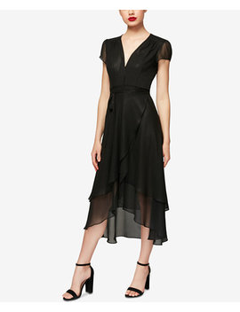 High Low Wrap Dress by Betsey Johnson