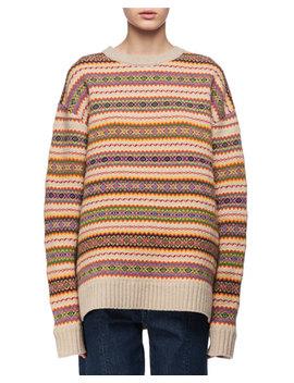 Crewneck Knit Fair Isle Sweater by Stella Mc Cartney