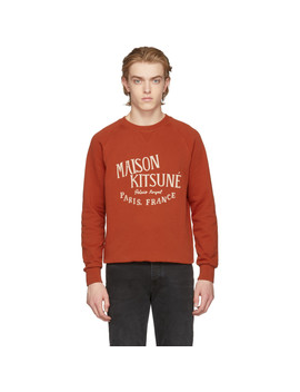 Orange 'palais Royal' Sweatshirt by Maison KitsunÉ