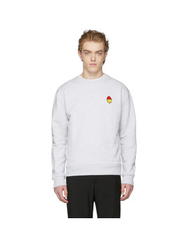 Grey Smiley Edition Sweatshirt by Ami Alexandre Mattiussi