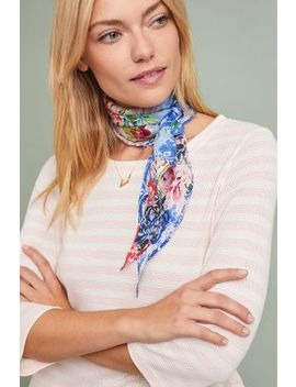 Carnation Silk Kerchief Scarf by Anthropologie