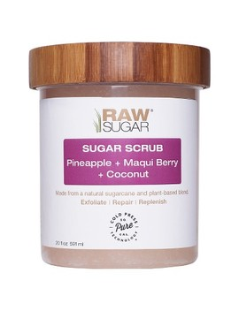 Raw Sugar Pineapple, Maqui Berry And Coconut Body Scrub   20oz by Raw Sugar