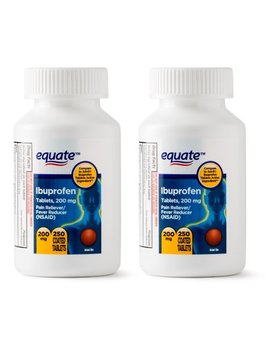 Equate Pain Relief Ibuprofen Coated Tablets, 200 Mg, 250 Ct, 2 Pk by Equate