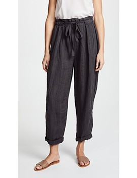 Only Over You Linen Trousers by Free People