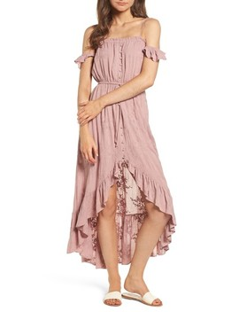 Rose Cold Shoulder High/Low Dress by Lost + Wander