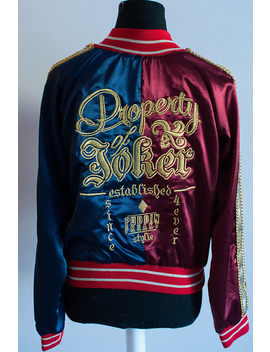 Harley Quinn Suicide Squad Embroidered Jacket Cosplay Custom Made Costume by Etsy