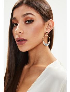 Silver Diamante Hoop Earrings by Missguided