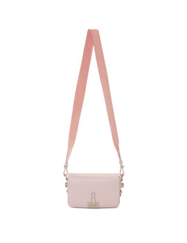 Pink Mini Binder Clip Bag by Off White