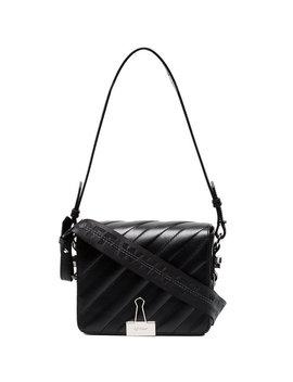 Black Binder Clip Shoulder Bag by Off White