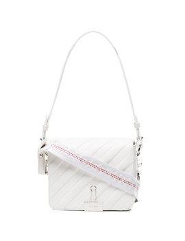 White Binder Clip Shoulder Bag by Off White