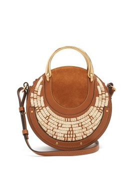 Pixie Small Leather And Raffia Cross Body Bag by Chloé